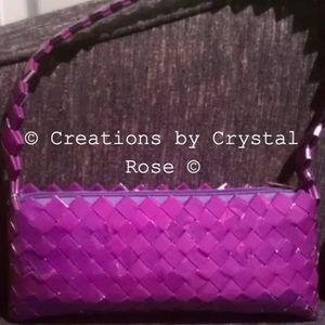 Purple Candy Wrapper Clutch - Handmade